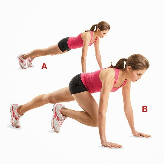 Push Up Along with Knee Kick exercise